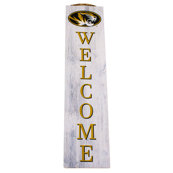 Mizzou Oval Tiger Head Welcome Vertical Sign