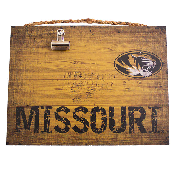 Mizzou Oval Tiger Head Missouri Distressed Clip Sign