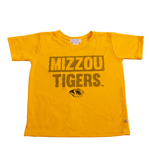 Mizzou Tigers Tiger Head Wicking Gold T-Shirt