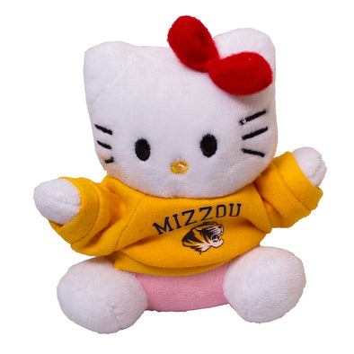 Mizzou Tiger Head Hello Kitty 4 Inch Key Chain