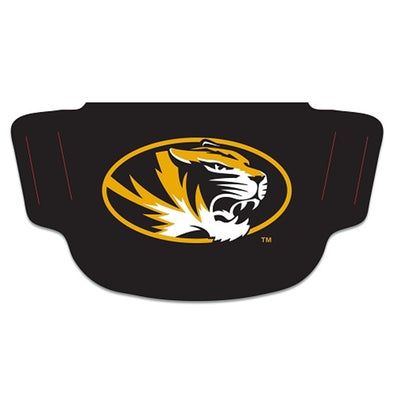 Mizzou Fan Mask Oval Tiger Head Black Two Ply