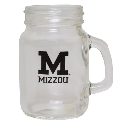 Mizzou Block M Mason Jar Shot Glass