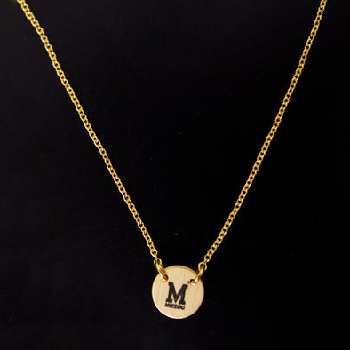 Mizzou Block M Adjustable Length Gold Necklace