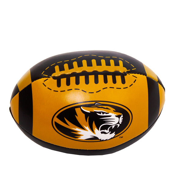 Mizzou Oval Tiger Head Black and Gold Mini Stuffed Football