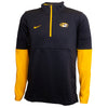 Mizzou Nike® 2020 1/2 Zip Oval Tiger Head Black and Gold Jacket