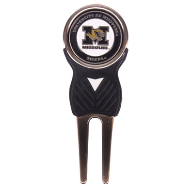Mizzou Tiger Head Golf Divot Tool with Ball Marker
