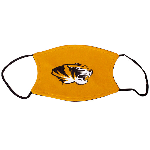 Mizzou Tiger Head Gold Face Mask