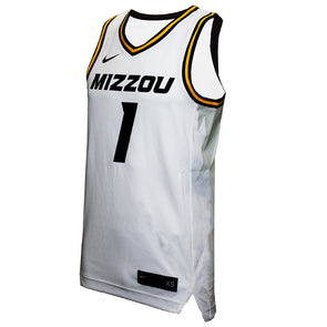 Mizzou #1 Nike® White Replica Basketball Jersey