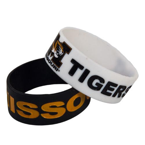 Missouri Tigers Rubber Bracelets Set of 2