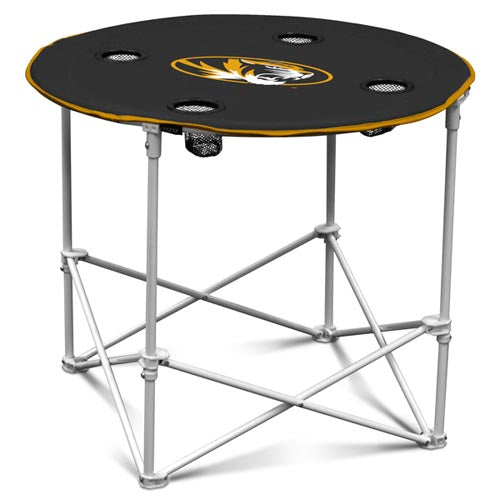 Mizzou Oval Tiger Head Black Tailgate Table