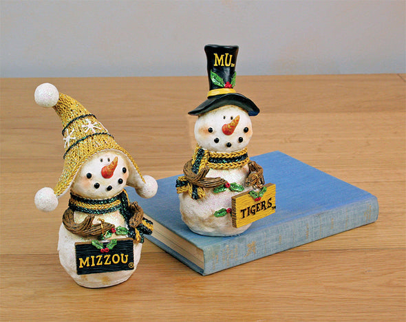 Mizzou Assorted Snowman Resin Figurine