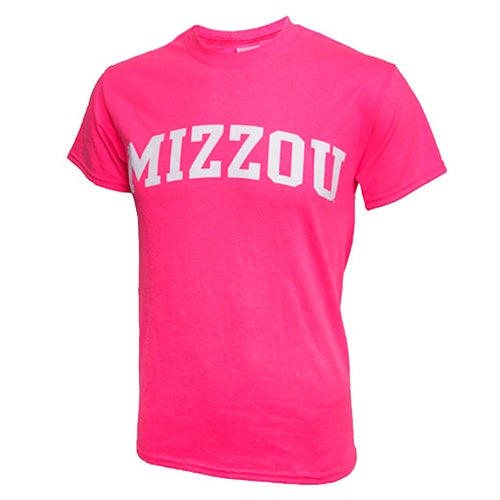 Mizzou Hot Pink Short Sleeve Crew Neck T-Shirt
