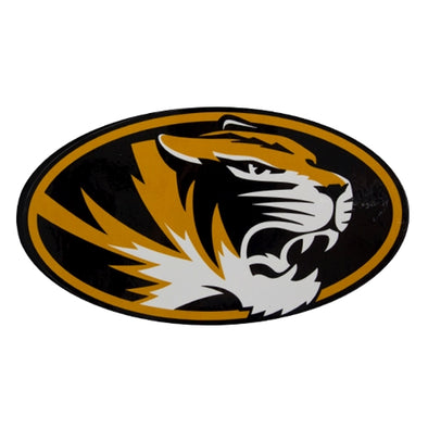 Mizzou Oval Tiger Head Black Decal