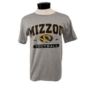 Mizzou Football Short Sleeve Crew Neck T-Shirt