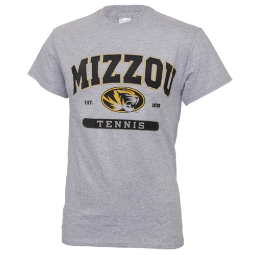 Mizzou Tennis Grey Short Sleeve Crew Neck T-Shirt