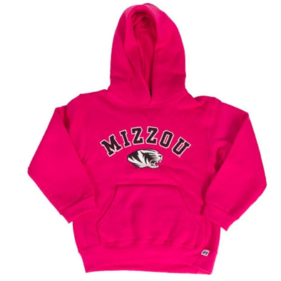 Mizzou Kids' Tiger Head Hot Pink Hoodie