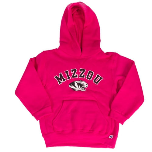 best cheap quality design large discount Mizzou Kids' Tiger Head Hot Pink Hoodie – Tiger Team Store