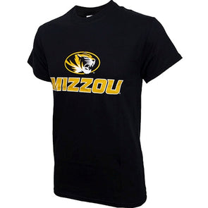 Mizzou Oval Tiger Head Black Crew Neck T-Shirt