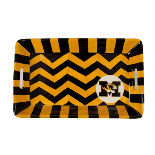 Mizzou Chevron Tiger Head Mini Tray