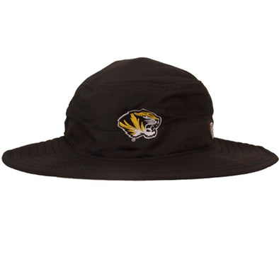Mizzou Tiger Head Ultra Light Black Bucket Hat