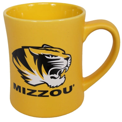 Mizzou Tiger Head Gold Diner Mug