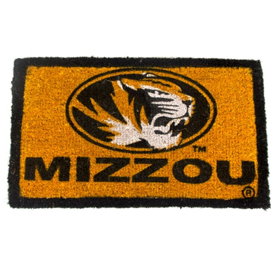 Mizzou Oval Tiger Head Black & Gold Welcome Mat