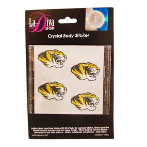 Mizzou Oval Tiger Head Glitter Tattoos