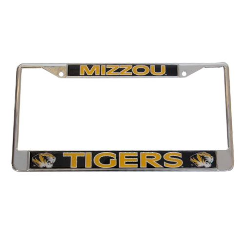Mizzou Tigers Black & Gold Metal Single License Plate Frame