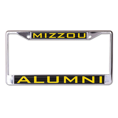 Mizzou Alumni Gold Chrome Single License Plate Frame