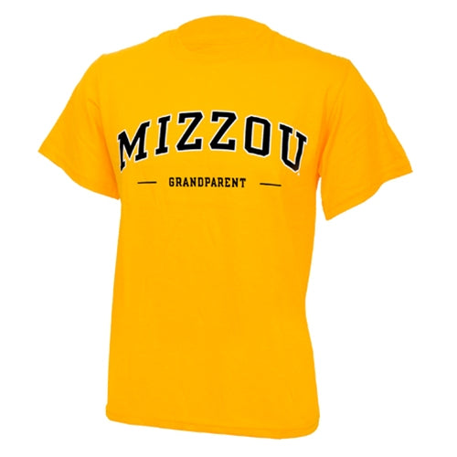 Mizzou Grandparent Gold Crew Neck T-Shirt