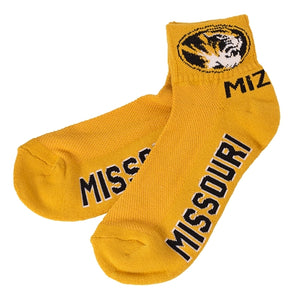 Missouri Tigers Gold Ankle Socks