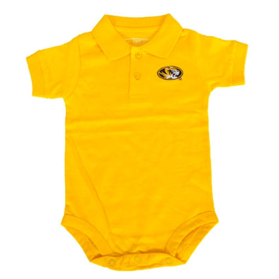 Mizzou Oval Tiger Head Polo Onesie