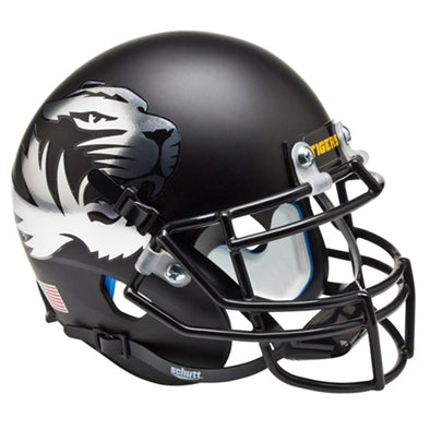 Mizzou Tiger Head Mini Metallic Football Helmet
