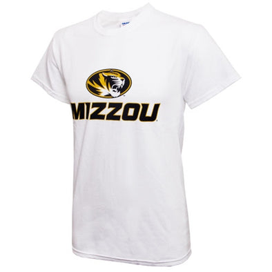 Mizzou Oval Tiger Head White Crew Neck T-Shirt
