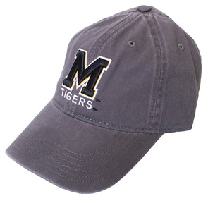 Mizzou Block M Adjustable Grey Cap