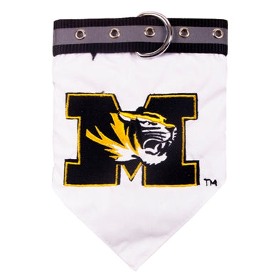 Mizzou M Tiger Head Dog Collar Bandana