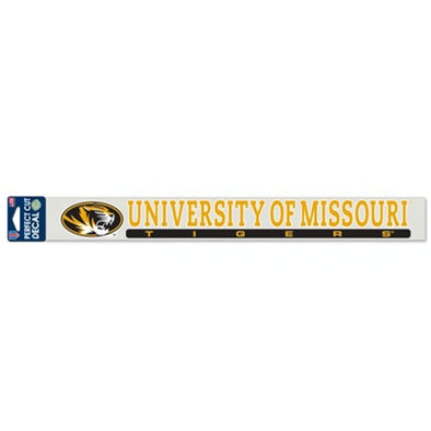 University of Missouri Oval Tiger Head Long Decal