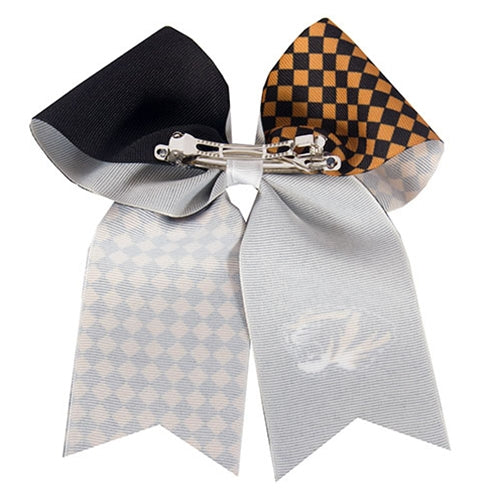 Mizzou Tiger Head Black & Gold Hair Bow