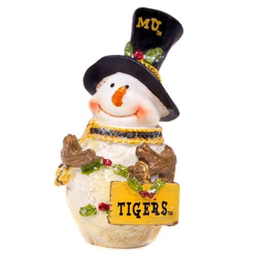 Mizzou Tigers Snowman Ornament