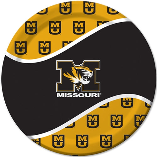 Missouri M Tiger Head Black and Gold Paper Dinner Plates  sc 1 st  Tiger Team Store : tiger paper plates - pezcame.com