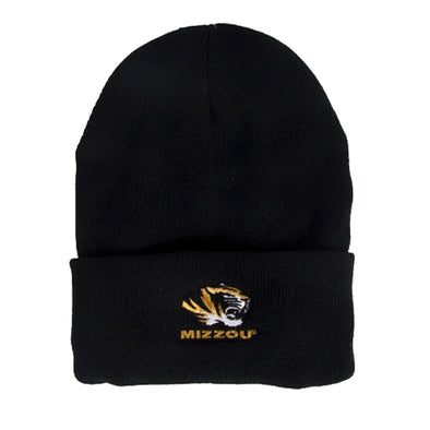 Mizzou Tiger Head Black Beanie