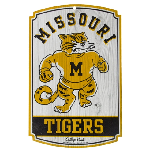 Missouri Tigers Retro Wooden Sign