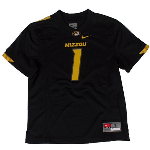 Mizzou Nike® Kids' Black #1 Replica Football Jersey