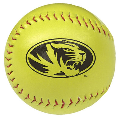 Mizzou Oval Tiger Head Softball