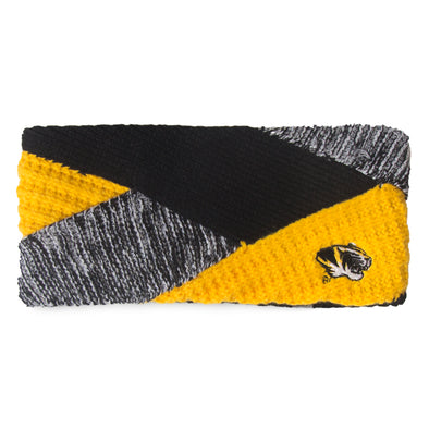 Mizzou Tiger Head Knit Criss Cross Headband