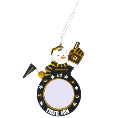 Mizzou Snowman Photo Frame Ornament