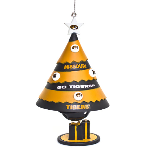 Missouri Tigers Porcelain Tree Bell Ornament