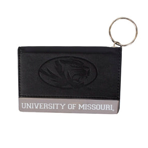 University of Missouri Black Leather Bi-Fold ID Holder