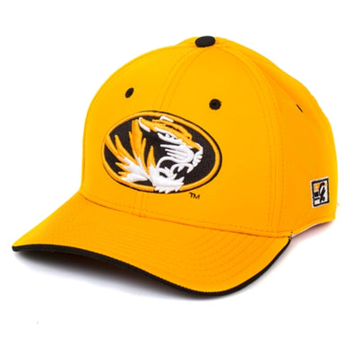 Mizzou Oval Tiger Head Gold Stretch-Fit Hat