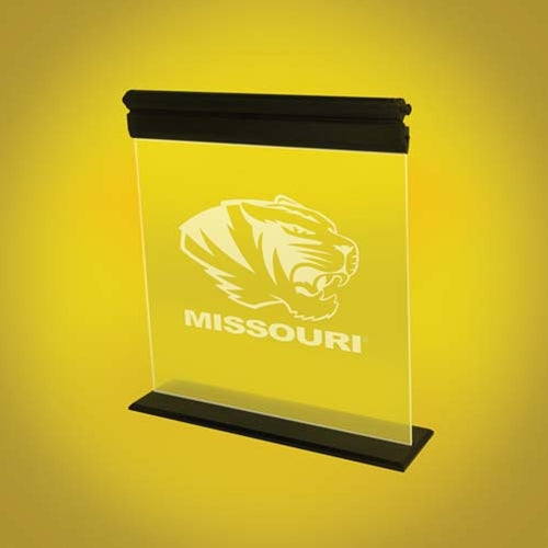 Mizzou Tiger Head Acrylic LED Light